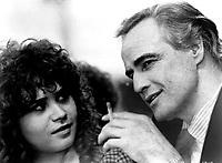 Marlon Brando &amp; Maria Schneider in Last Tango in Paris (1972)<br /> Ultimo tango a Parigi (original title)<br /> *Filmstill - Editorial Use Only*<br /> CAP/RFS<br /> Image supplied by Capital Pictures