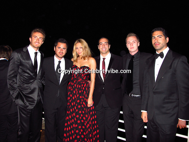 Mohammed Al Turki, Barron Hilton..De Grisogno Party..2011 Cannes Film Festival..Eden Roc Restaurant at Hotel Du Cap..Cap D'Antibes, France..Tuesday, May 17, 2011..Photo By CelebrityVibe.com..To license this image please call (212) 410 5354; or.Email: CelebrityVibe@gmail.com ;.website: www.CelebrityVibe.com