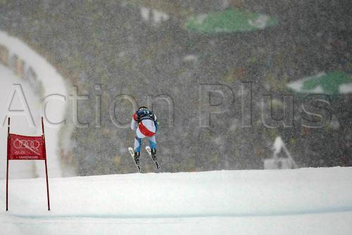 21.01.2012. Kitzbuehel, Austria. Didier CUCHE (SUI) in action during the Alpine Ski World Cup Hahnenkamm Downhill