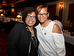 WATERBURY,  CT-062318JS25--Gloria Jeter of New Haven and Jade Gopie of Waterbury, at the &quot;Jazz and Jeans&quot; wine tasting hosted by the Waterbury Chapter of The Links at the Palace Theater in Waterbury. <br />  Jim Shannon Republican American