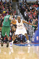 12/27/12 Los Angeles, CA:Los Angeles Clippers power forward Lamar Odom #7 during an NBA game between the Los Angeles Clippers and the Boston Celtics played at Staples Center. The Clippers defeated the Celtics 106-77 for their 15th straight win.