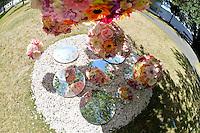 Sally Lush, Floral Flow, Shapeshifter 2014, Civic Gardens, Lower Hutt, Wellington, New Zealand on Sunday 2 March2014.<br /> Photo by Masanori Udagawa. <br /> www.photowellington.photoshelter.com.