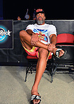 HOLLYWOOD, FL - SEPTEMBER 05: Shannon Briggs seating at ring side before his fight during the Saturday Fight Night World Heavyweight Champions Fight Night at Hard Rock Live! in the Seminole Hard Rock Hotel & Casino on September 5, 2015 in Hollywood, Florida. ( Photo by Johnny Louis / jlnphotography.com )