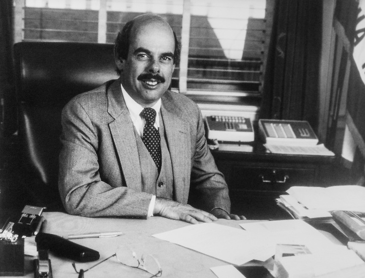Rep. Henry Waxman, D-Calif., in his office in 1989. (Photo by CQ Roll Call)