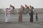 The breakaway group pass by during Stage 6 of the 2019 UAE Tour, running 175km form Ajman to Jebel Jais, Dubai, United Arab Emirates. 1st March 2019.<br /> Picture: LaPresse/Fabio Ferrari | Cyclefile<br /> <br /> <br /> All photos usage must carry mandatory copyright credit (© Cyclefile | LaPresse/Fabio Ferrari)