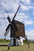 Bockwindm&uuml;hle &quot;Tejn-Stubm&oslash;lle&quot;  in Gudhjem auf der Insel Bornholm, D&auml;nemark, Europa<br /> post mill &quot;Tejn-Stubm&oslash;lle&quot;  in Gudhjem, Isle of Bornholm Denmark