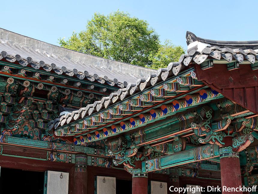Ahnenschrein der Yi-Dynastie, Jeonju, Provinz Jeollabuk-do, S&uuml;dkorea, Asien<br /> ancestral shrine of Yi-Dynasty  in Jeonju, province Jeollabuk-do, South Korea, Asia