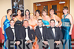 Members of Tralee Musical Society enjoying the glamour at the AIMS ball in the INEC Killarney Saturday night front l-r: Ken Murphy, Oliver Hurley, Gary Murphy, Alan Teahan. Back row: Anna O'Donoghue, Geraldine Hurley, Hayley Murphy, Emma Quirke, Aileen Riordan, Marie Hannafin, Rebecca Teahan and Anna Curtin   Copyright Kerry's Eye 2008
