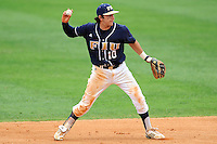 17 April 2010:  FIU's Garrett Wittels (10) throws to first in the sixth inning as the FIU Golden Panthers defeated the University of New Orleans Privateers, 6-4, at University Park Stadium in Miami, Florida.