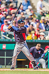 4 March 2013: Minnesota Twins shortstop Brian Dozier in action during a Spring Training game against the St. Louis Cardinals at Roger Dean Stadium in Jupiter, Florida. The Twins shut out the Cardinals 7-0 in Grapefruit League play. Mandatory Credit: Ed Wolfstein Photo *** RAW (NEF) Image File Available ***