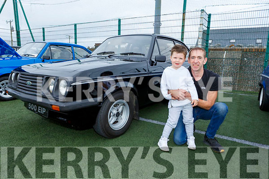 Denis Dowling and Alyton O'Connor from Ballyduff with his Ford Escort 2000 at the Irish Ford Fair in Banna on Sunday