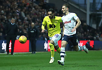 Blackburn Rovers' Danny Graham and Preston North End's Alan Browne<br /> <br /> Photographer Rachel Holborn/CameraSport<br /> <br /> The EFL Sky Bet Championship - Preston North End v Blackburn Rovers - Saturday 24th November 2018 - Deepdale Stadium - Preston<br /> <br /> World Copyright &copy; 2018 CameraSport. All rights reserved. 43 Linden Ave. Countesthorpe. Leicester. England. LE8 5PG - Tel: +44 (0) 116 277 4147 - admin@camerasport.com - www.camerasport.com