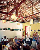 Bermuda, Hamilton, people enjoying in Rock Island Coffee Cafe