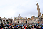 Pope Francis with pilgrims from all over the world attends the double canonisation of late Popes John Paul II and John XXIII presided over by Pontiffs Pope Francis and his elderly predecessor Benedict XVI at St Peter's square in Rome.