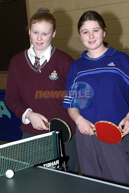 Charlotte Browne and Patrice McQuillan who took part in the girls Grade 1 Final..Picture: Paul Mohan/Neswfile
