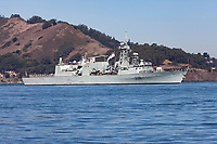 Halifax-class frigate HMCS Winnipeg (FFH 338) on San Francisco Bay in October 2017. The Calgary was officially commissioned into the Canadian Forces on 23 June 1995.