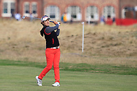 Haeji Kang (KOR) on the 2nd fairway during Round 3 of the Ricoh Women's British Open at Royal Lytham &amp; St. Annes on Saturday 4th August 2018.<br /> Picture:  Thos Caffrey / Golffile<br /> <br /> All photo usage must carry mandatory copyright credit (&copy; Golffile | Thos Caffrey)
