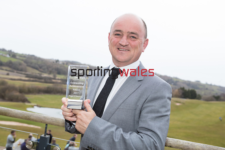 Wales Golf Awards 2017<br /> 23.03.18<br /> Nigel Edwards<br /> Steve Pope ©Sportingwales