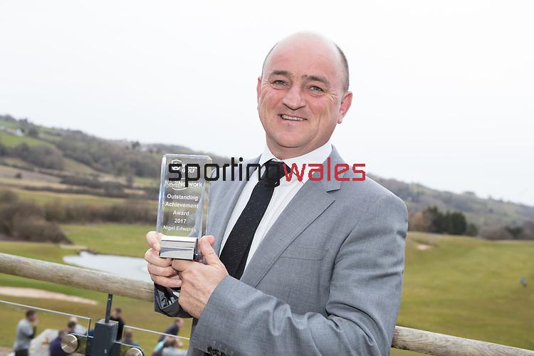 Wales Golf Awards 2017<br /> 23.03.18<br /> Nigel Edwards<br /> Steve Pope &copy;Sportingwales
