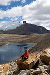 Laguna grande de la Sierra.Sierra del Cocuy