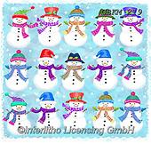 Kate, CHRISTMAS SANTA, SNOWMAN, WEIHNACHTSMÄNNER, SCHNEEMÄNNER, PAPÁ NOEL, MUÑECOS DE NIEVE, paintings+++++Christmas page 82,GBKM219,#x#