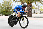 Race leader Adam Yates (GBR) Mitchelton-Scott in action during Stage 7 of the Race of the Two Seas, the 54th Tirreno-Adriatico 2019, an individual time trial running 10.1km around San Benedetto del Tronto, Italy. 19th March 2019.<br /> Picture: LaPresse/Fabio Ferrari | Cyclefile<br /> <br /> <br /> All photos usage must carry mandatory copyright credit (&copy; Cyclefile | LaPresse/Fabio Ferrari)