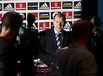 Stewart Regan faces the media after the SFA AGM at Hampden today