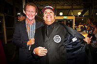 GOLD COAST, Queensland/Australia (Friday, February 24, 2012) Nev Hyman (AUS) with Larry Bertlemann (HAW).  The 29th Annual ASP World Surfing Awards went off tonight at the Gold Coast Convention and Exhibition Centre with the worlds best surfers trading the beachwear for formal attire as the 2011 ASP World Champions were officially crowned.. .Kelly Slater (USA), 40, and Carissa Moore (HAW), 19, took top honours for the evening, collecting the ASP World Title and ASP Womens World Title respectively.. .I have actually been on tour longer than some of my fellow competitors have been alive, Slater said. All joking aside, its truly humbling to be up here and honoured in front of such an incredible collection of surfers. I want to thank everyone in the room for pushing me to where I am...In addition to honouring the 2011 ASP World Champions, the ASP World Surfing Awards included new accolades voted on by the fans and the surfers themselves...For the first time in several years, ASP Life Membership was awarded to Hawaiian legend and icon of high-performance surfing, Larry Bertlemann (HAW), 56...Where surfing is today is where I dreamed it should be in the 70s, Bertlemann said. You guys absolutely deserve this and Im so honored to be up here in front of you all tonight..Grammy Award-winning artists Wolfmother and The Vernons rounded out the nights entertainment which was all streamed LIVE around the world on YouTube.com..Photo: joliphotos.com
