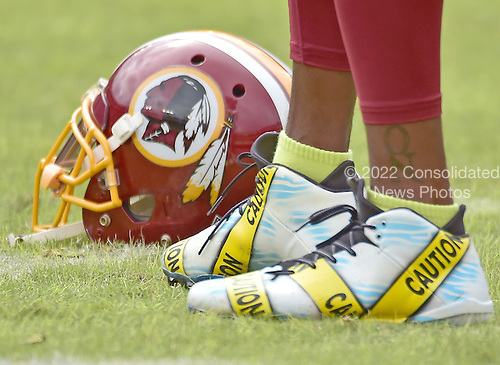 Close-up of the shoes Washington Redskins wide receiver DeSean Jackson (11) is wearing during warm-ups prior to the game against the Cleveland Browns at FedEx Field in Landover, Maryland on October 2, 2016.  Earlier in the day, the Redskins released the a statement about Jackson's shoes.  Jackson is quoted as saying &ldquo;Today is the start of my attempts to be part of a solution and start dialogue about the senseless killings of both citizens and police. I have chosen to wear these cleats in pregame today to use my platform as a pro athlete to add to this discussion. This isn&rsquo;t meant to be any kind of protest against the good men and women in law enforcement in this country. I just want to express my concern in a peaceful and productive way about issues that are currently impacting our country.&rdquo;  The team added &ldquo;We stand in support of both DeSean and the law enforcement community. We have great respect for law enforcement and the sacrifices they make each and every day to protect and serve our communities. We continue to have open dialogue with our players about issues that are important to them and support their efforts to bring awareness to those issues when done in a responsible manner.&rdquo;<br /> Credit: Ron Sachs / CNP