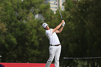 Nacho Elvira (ESP) on the 4th tee during Round 1 of the Omega Dubai Desert Classic, Emirates Golf Club, Dubai,  United Arab Emirates. 24/01/2019<br /> Picture: Golffile | Thos Caffrey<br /> <br /> <br /> All photo usage must carry mandatory copyright credit (&copy; Golffile | Thos Caffrey)