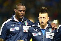 Fussball International  Freundschaftsspiel   14.11.2012 Italien - Frankreich Mario Balotelli und Stephan El Shaarawy (v. li., Italien)