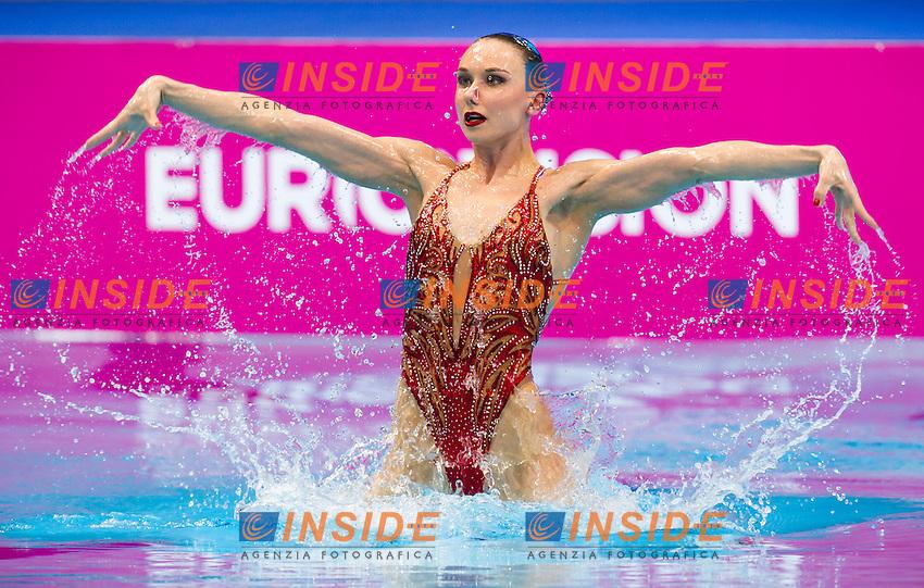 ISCHENKO Natalia RUS gold medal<br /> London, Queen Elizabeth II Olympic Park Pool <br /> LEN 2016 European Aquatics Elite Championships <br /> Synchro<br /> Solo free final <br /> Day 02 10-05-2016<br /> Photo Giorgio Perottino/Deepbluemedia/Insidefoto