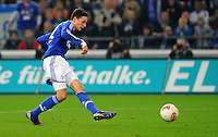 FUSSBALL   1. BUNDESLIGA    SAISON 2012/2013    11. Spieltag   FC Schalke - 04 Werder Bremen                              10.11.2012 Julian Draxler (FC Schalke 04) erzielt das Tor zum 2:1