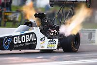 May 19, 2017; Topeka, KS, USA; NHRA top fuel driver Shawn Langdon during qualifying for the Heartland Nationals at Heartland Park Topeka. Mandatory Credit: Mark J. Rebilas-USA TODAY Sports