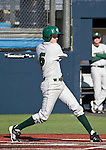 February 24, 2012:    Utah Valley Wolverines Kai Hatch bats against the Nevada Wolf Pack during  their NCAA baseball game played at Peccole Park on Friday afternoon in Reno, Nevada.