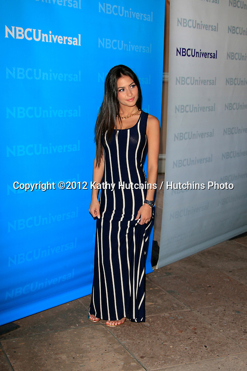 PASADENA - APR 18:  Christie Livoti arrives at the NBCUniversal Summer Press Day at The Langham Huntington Hotel on April 18, 2012 in Pasadena, CA