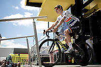 later stage winner Daryl Impey (RSA/MitcheltonScott) at the pre stage sign on. <br /> <br /> <br /> Stage 9: Saint-Étienne to Brioude (170km)<br /> 106th Tour de France 2019 (2.UWT)<br /> <br /> ©kramon