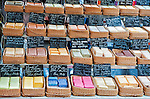 Provençal soaps for sale at an open-air market in the Place des Precheurs, Aix-en-Provence, France