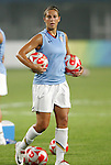 06 August 2008: Carli Lloyd (USA).  The women's Olympic team of Norway defeated the United States women's Olympic soccer team 2-0 at Qinhuangdao Olympic Center Stadium in Qinhuangdao, China in a Group G round-robin match in the Women's Olympic Football competition.
