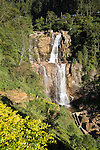 Waterfalls on Ramboda Oya river, Ramboda, Nuwara Eliya, Central Province, Sri Lanka, Asia