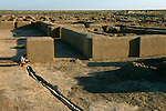 Drainage channel; Oxus Civilization; Turkmenistan; Gonor Depe site; Victor Sarianidi; Archaeology; BMAC complex