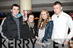 GREYHOUND FUN: Having great fun Kingdom Greyhound Stadium on Saturday l-r: Rory Coffey, Jade Enright, Shannon Carey and Darren O'Brien all from Casement Avenue, Tralee.