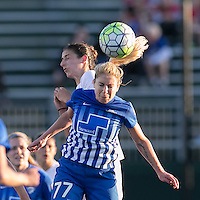 Allston, Massachusetts - May 22, 2016:  In a National Women's Soccer League (NWSL) match, Boston Breakers (blue) defeated FC Kansas City (white), 1-0, at Jordan Field.