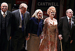 James Earl Jones,  John Larroquette, Candice Bergen, Angela Lansbury & Michael McKeon.during the Broadway Opening Night Performance Curtain Call for 'Gore Vidal's The Best Man' at the Gerald Schoenfeld Theatre in New York City on 4/1/2012