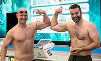 Evgenij Korotyškin Energy Standard<br /> Peter Mankoc Energy Standard SLV<br /> day 02  09-08-2017<br /> Energy For Swim<br /> Rome  08 -09  August 2017<br /> Stadio del Nuoto - Foro Italico<br /> Photo
