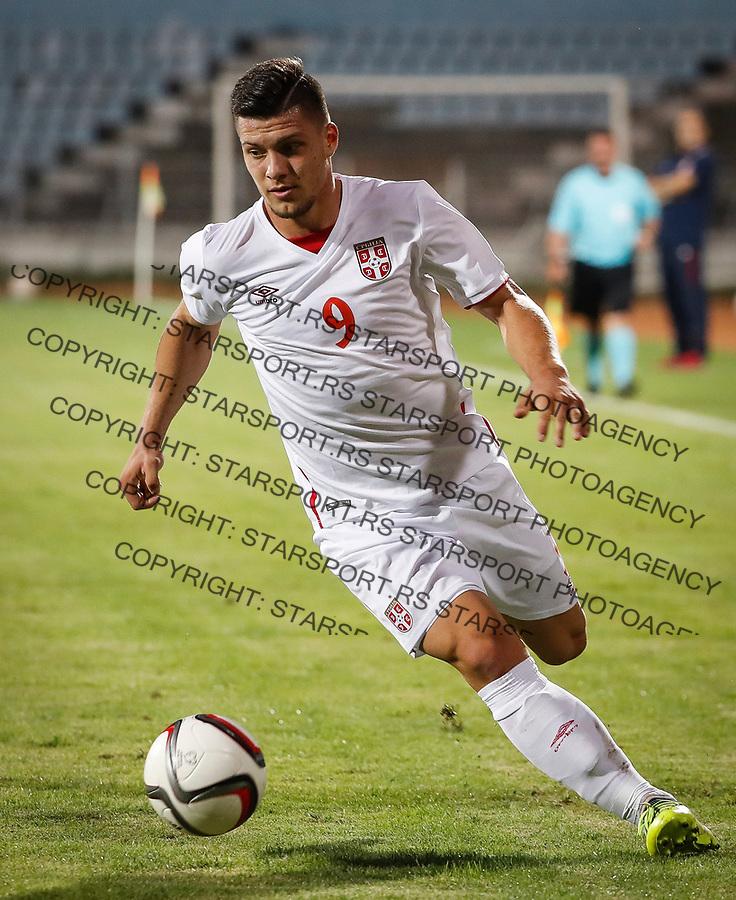 Fudbal Soccer<br /> Reprezentacija Srbije U21<br /> Kvalifikacije za U21 EURO 2019<br /> Srbija U21 v Gibraltar U21<br /> Luka Jovic<br /> Jagodina, 09.01.2017.<br /> foto: Srdjan Stevanovic/Starsportphoto &copy;