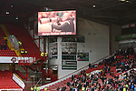 Club photographer Martyn Harrison is remembered on the big screen - Sheffield United vs Coventry City - SkyBet League One - Bramall Lane - Sheffield - 13/12/2015 Pic Philip Oldham/SportImage