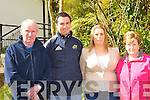 Donie Lyne, Brian O'Sullivan, Gillian O'Sullivan and Teresa Lyne at the blessing of the new boats and pier at Muckross Rowing club on Sunday..