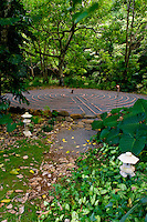 Labyrinth walk at Sacred Garden, Haiku, Maui
