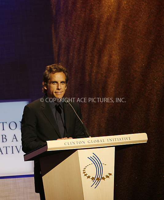 WWW.ACEPIXS.COM . . . . .  ....September 24 2009, New York City....Ben Stiller at the Clinton Global Initiative on September 24 2009 in New York City....Please byline: NANCY RIVERA- ACE PICTURES.... *** ***..Ace Pictures, Inc:  ..tel: (212) 243 8787 or (646) 769 0430..e-mail: info@acepixs.com..web: http://www.acepixs.com